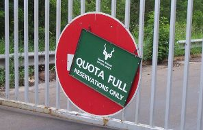 Day visitors quota full sign