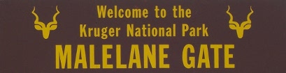 Malelane Gate sign