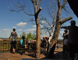 Olifants Rest Camp restaurant overlooking river