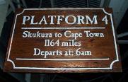 Selati Station Grillhouse platform signboard