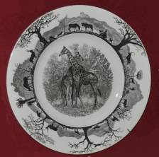 Wedgwood Kruger National Park first edition plate with giraffes