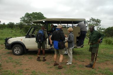 Kruger Park rangers leading a game walk