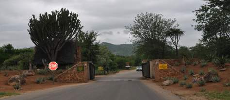 Berg-En-Dal Rest Camp gate