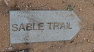 Sable Trail signpost