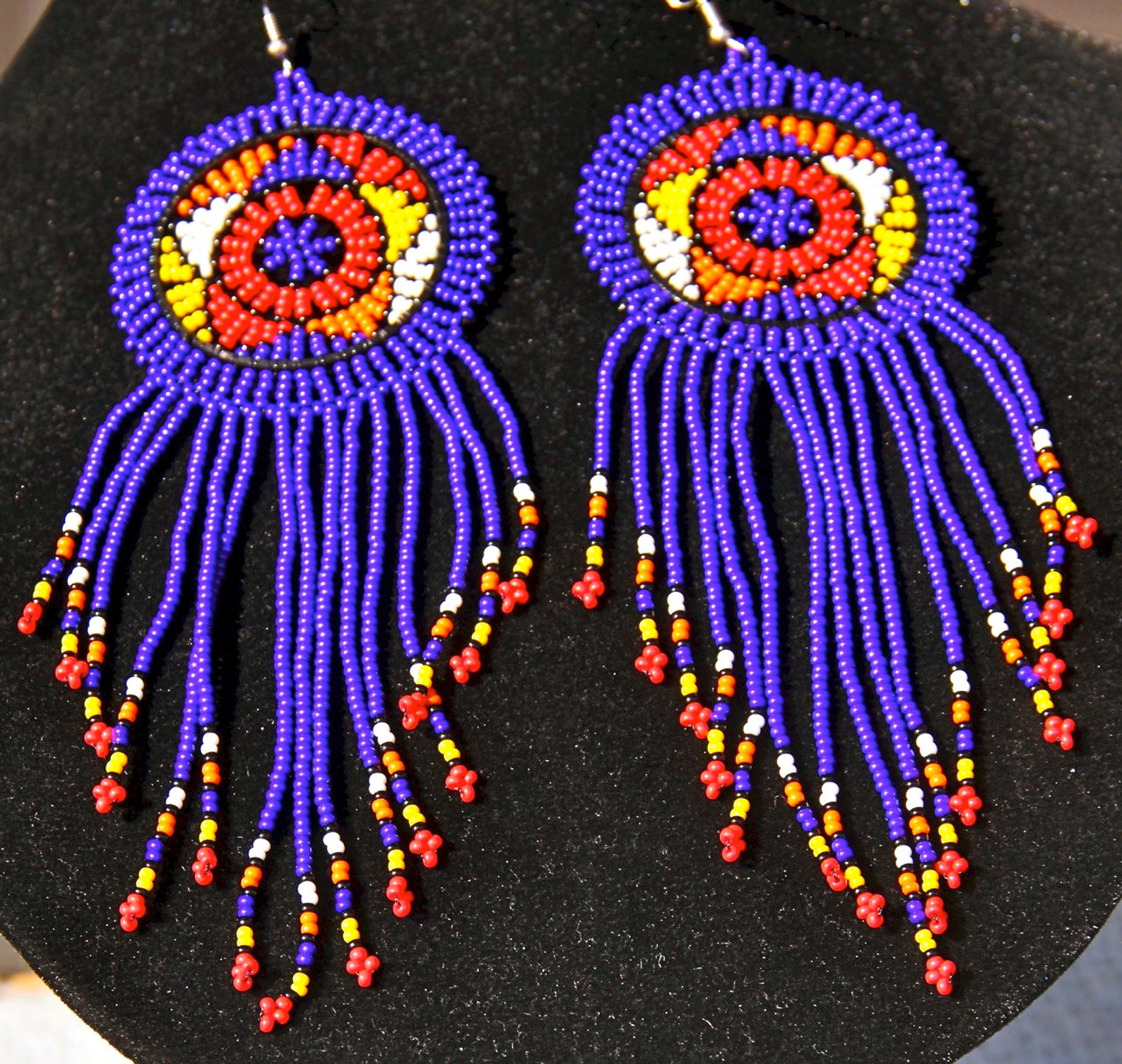 Hadeda Zulu beaded earrings